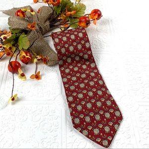 📍 Salvatore Ferragamo Silk Floral Tie
